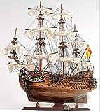 Maqueta de barco galeón San Felipe montado