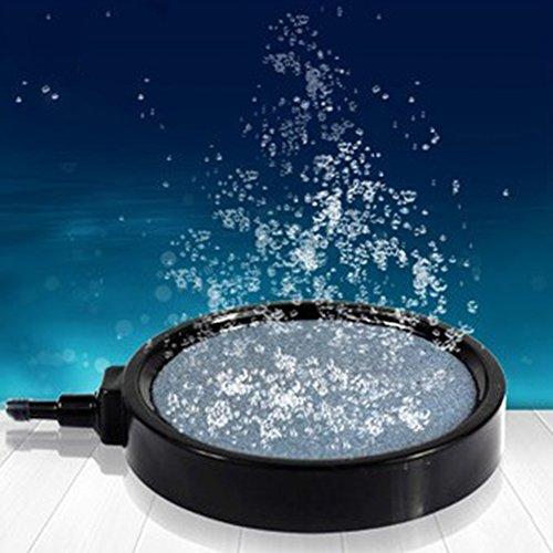 Ainstsk Luftstein für Aquarium, Aquarium, Teichpumpe, Hydrokultur-Diffusor, Luftsprudler, runder scheibenförmiger Sauerstoff-Diffusor