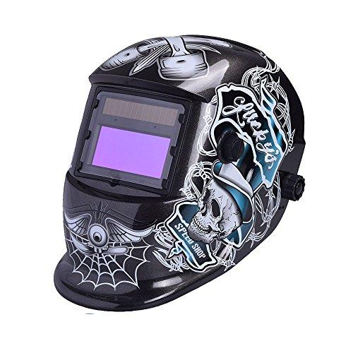 nuzamas funciona con energía solar auto oscurecimiento soldadura casco máscara de soldadura cara protección para Arc Tig Mig de Molienda de corte por plasma con pantalla