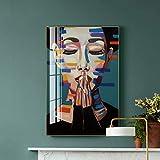 ganlanshu Arte de la Pared Lienzo Pintura de Personajes Imagen de la Pared Color Belleza impresión Sala de Estar decoración del hogar,Pintura sin marco-60X90cm