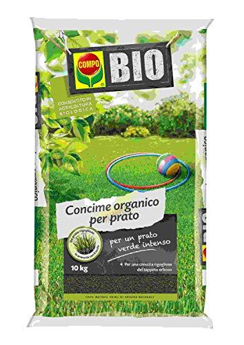 COMPO Concime Organico per Prato, Consentito in agricoltura biologica, 10 kg