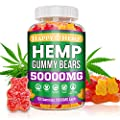 Hemp Gummies for Pain and Anxiety 50000mg Organic Omega 3, 6 & 9 All Natural Stress Relief Premium Extract Sleep Made in USA Mood & Immunity Support