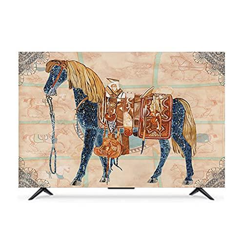 QYQS TV Cubiera Cubiertas de TV A Prueba de Polvo Al Aire Libre de 19 A 65 Pulgadas, Compatibles con Varios Modelos, Admitimos Personalización(Size:55in/W130CMxH80CM)