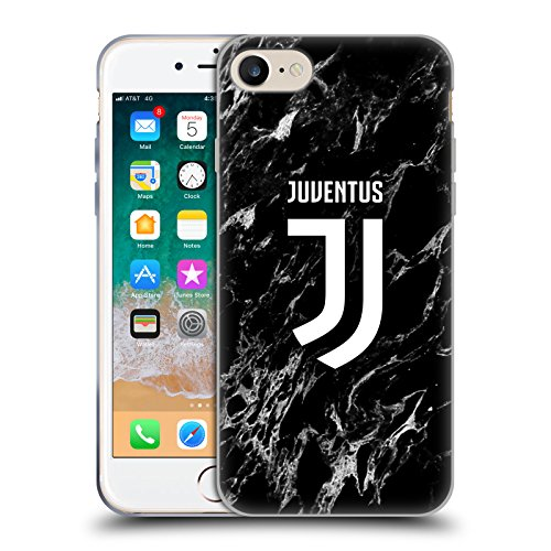Head Case Designs Ufficiale Juventus Football Club Nero Marmoreo Cover in Morbido Gel Compatibile con Apple iPhone 7 / iPhone 8 / iPhone SE 2020