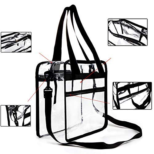 Buy Bargain Youngever Clear Bag 12 X 12 X 6, Stadium Approved, Clear Tote Bag, Heavy Duty, Shoulder ...