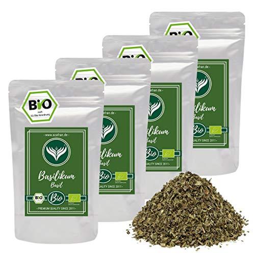 Azafran BIO Basilikum getrocknet und gerebelt - Italienische Kräuter auch als Basilkum Tee 1kg