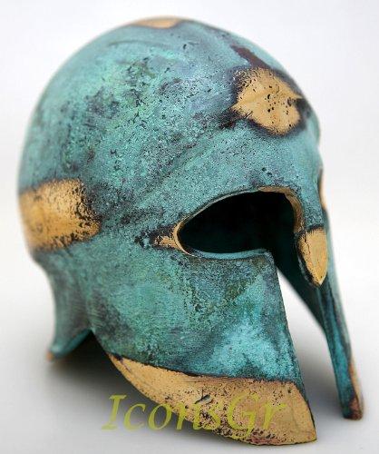 Ancient Greek Bronze Museum Replica of Corinthian Helmet (376)