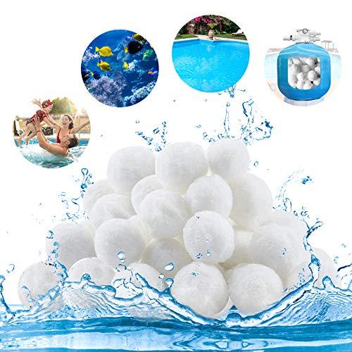 laxikoo Filtro Balls 700g può Anziché 25 kg di Sabbia Filtrante, Palline Filtranti per Piscina di Alta qualità, Sfere per Filtrazione Acqua Piscina, può riutilizzato, per Pompe Filtranti e Acquari
