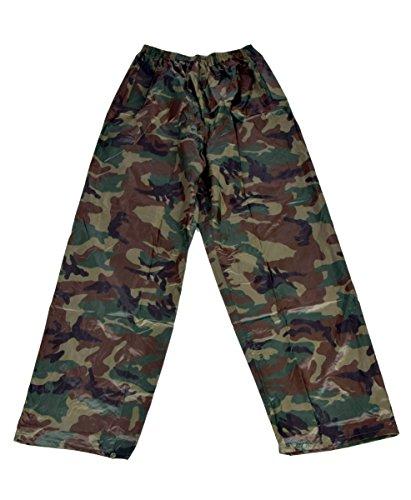 Iwea Camouflage Regenhose Überhose Outdoor Funktions Hose Wasserdicht in Tarnfarben IW040, L