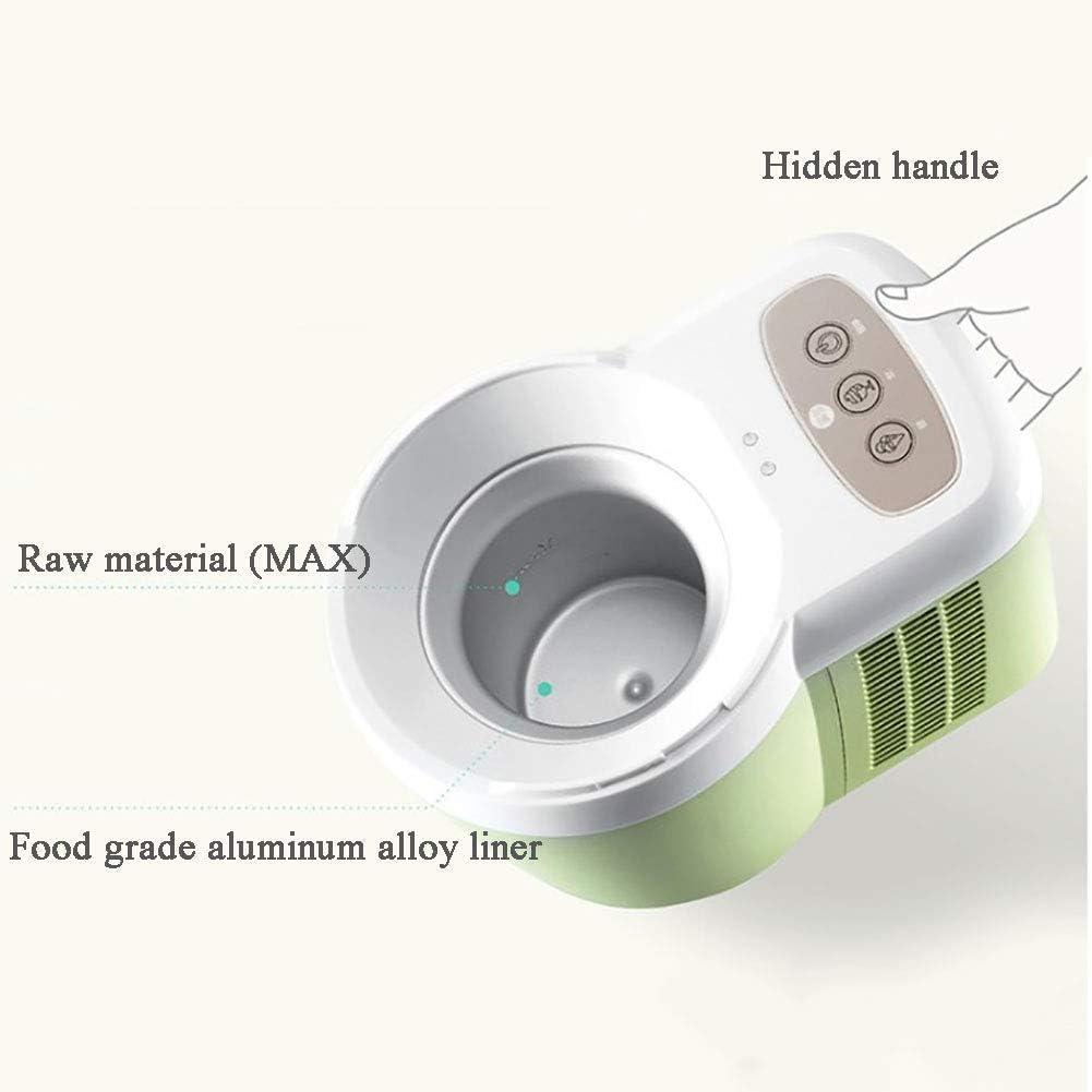 Automatische Ice Cream Maker Ingebouwde vriezer, Homemade Soft Serve Ice Cream Machine, Make Ice Cream Gelato Frozen Yoghurt Sorbet Grey (Kleur: grijs) peng (Color : Green) Gray
