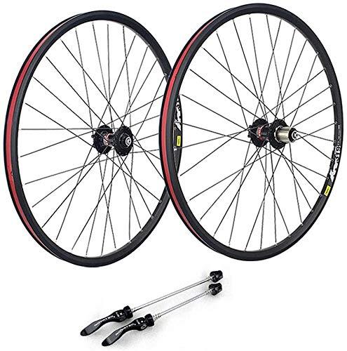 Ruedas De Bicicleta,llantas bicicleta 29 pulgadas Juego de ruedas de bicicletas de montaña, de doble pared llantas de aluminio MTB llantas liberación rápida bici del camino del freno de disco de rueda