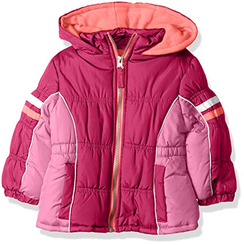 pink platinum girls colorblock active polar fleece lined winter coat puffer jacket