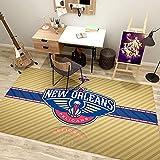WYBY Pelícanos Corte de Baloncesto Rug-Baloncesto All-Star Logo Fan Carpet-Dormitorio, Habitación para niños, Alfombra de Estar (160 * 230cm) 100 * 160cm