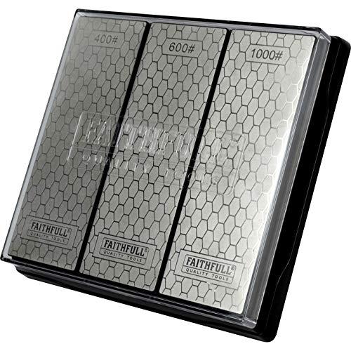 Faithfull FAIDWTRIPLE Diamond Whetstone Kit, 3 Piece, Multi-Colour, Overall...