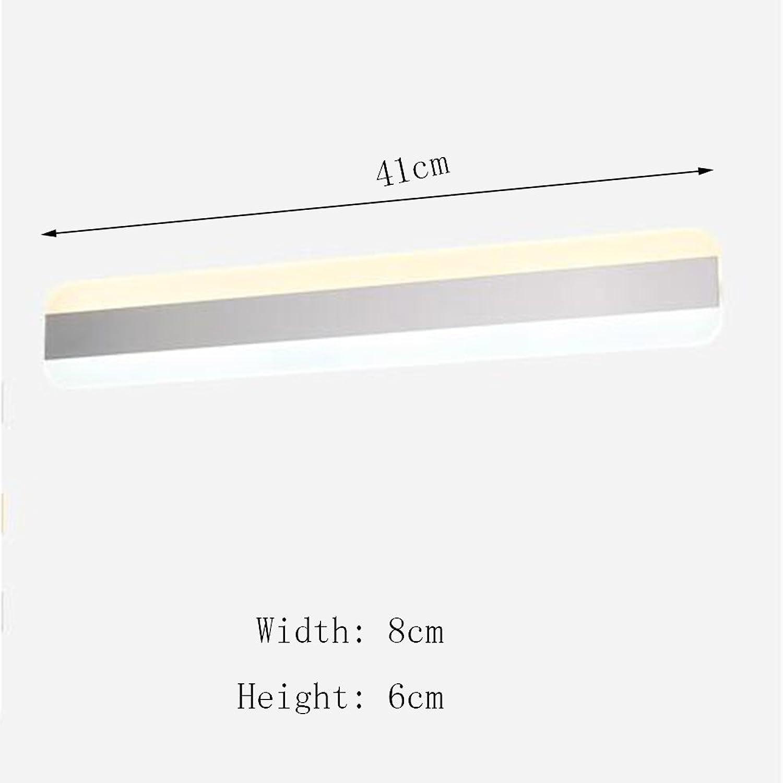 Spiegellampen- LED Einfache moderne wasserdichte Make-up-Spiegel beleuchtet Frontleuchten Badezimmerspiegel Frontleuchten --Lampen-Spiegel vorne ( farbe   Weies Licht-41cm-16W )