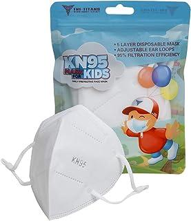 TRI-TITANS Kids - 5 Layer Disposable/Non Reusable MASK w Adjustable Ear Loops (5 Masks)