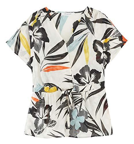 Promod Shirt mit Print Ecru Gemustert 46