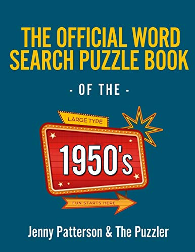 The Official Word Search Puzzle Book of the 1950's (Puzzler)