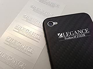 【LEGANCE】レガンス LEGANCEミニステッカー シルバー 5枚セット(9mm×35mm)
