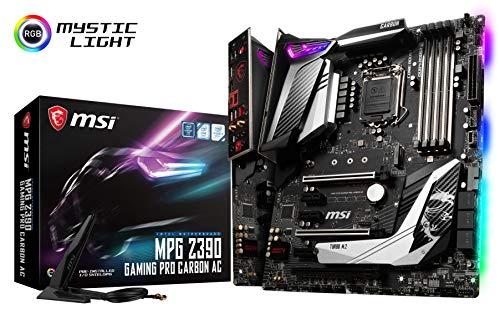 MSI MPG Z390 Gaming PRO Carbon AC LGA1151 (Intel 8th and 9th Gen) M.2 USB 3.1 Gen 2 DDR4 HDMI DP Wi-Fi SLI CFX ATX Z390 Gaming Motherboard
