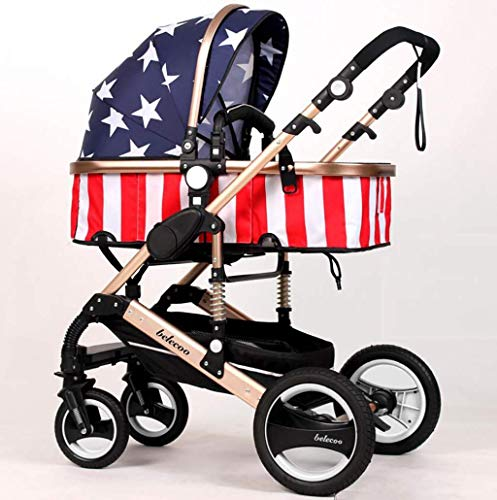 Sale!! ZLMI Baby Carriage High Landscape Ultra-Light Portable Folding Can Sit/Recline Two-Way Baby S...