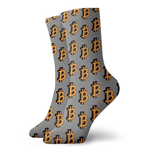QUEMIN Bitcoin Moneda Hombres Mujeres Calcetines de tripulacin Algodn Casual Deporte Novedad Larga Calcetines Funky Regalos Calcetines unisex Calcetines de sudor Calcetines transpirables