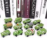FANPING 12pcs / Set de madera automóviles de juguete, la simulación del coche camión de la construcción de aviones de modelo, Movable Ingeniería del coche del vehículo modelo de tráfico de vehículos J