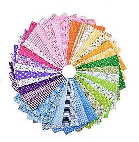 pequeño y compacto 35 tejidos de algodón 25 * 25 cm, estampado floral …