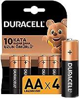 Duracell Alkalin AA Kalem Piller, 4'lü paket