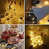 WEARXI 12 Pack LED Flaschenlicht Deko - 2M 20 LED Lichterkette Batterie, Led Korken mit LED Lichterkette für Flasche, Tischdeko Geburtstag, Weihnachten, Hochzeit, Valentinstag, Dekoration Wohnung - 2