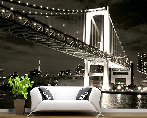 Benutzerdefinierte wohnzimmer schlafzimmer wandbild us golden gate bridge schwarz und weiß 3d hintergrund wandbild 3d wallpaper-400cmx280cm