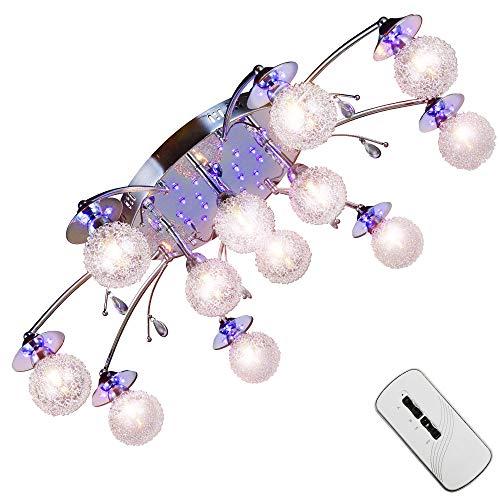 XXL Farbwechsel Led Deckenleuchte Ø89cm Wohnzimmer Deckenlampe mit Fernbedienung und Led Leuchtmittel