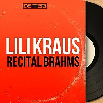 Récital Brahms (Mono Version)