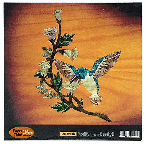 Inlaystickers Sticker für Gitarren & Bass - Hummingbird DX, B-143HB-14