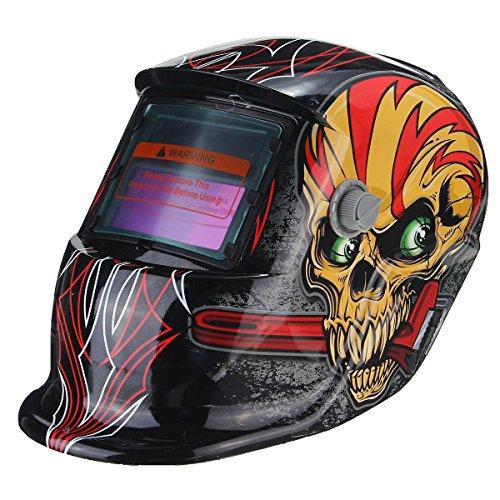 Rode schedel zonne-energie auto donker lassen helm TIG MIG Weld lasser lens masker