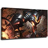 STTYE Póster de la Liga Legends de 40,6 x 60,9 cm, diseño de battlecast zac para pared, para sala de estar, dormitorio, enmarcado/listo para colgar