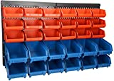 30 Bins Wall Mounted Storage Bin Parts Rack, Storage Bin Parts...