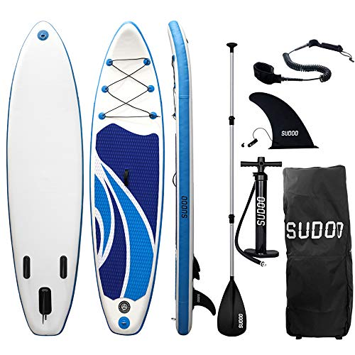 Triclicks Tabla Hinchable Paddle Surf/Sup Paddel Surf con Bomba, Mochila, Aleta Central Desprendible, Kit de Reparación, Remo Ajustable, La Cinta para Atar al Pie(300 * 75 * 15cm-Grosor) (Style 4)