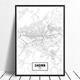 Leinwanddruck,Zagreb Kroatien Schwarz Weiß