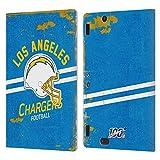 Head Case Designs Licenciado Oficialmente NFL Casco Distressed Look 100th Los Angeles Chargers Logo ...