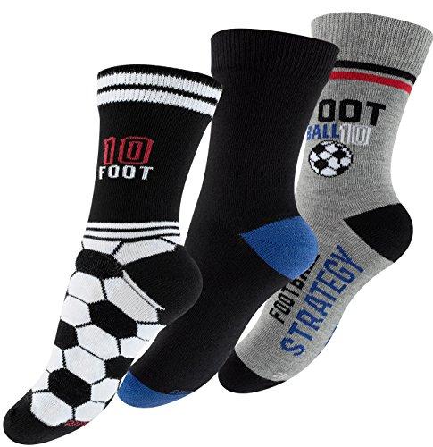 Cotton Prime 6 Paar Kinder Fußballsocken, Jungen Baumwoll Freizeit Socken