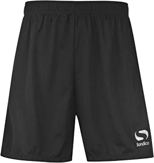 Sondico Kids Boys Core Football Shorts Junior Pants Trousers Bottoms Breathable FluGreen//Black 7-8 SB