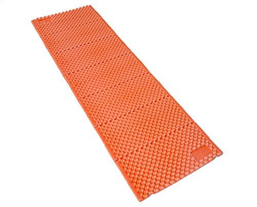 Esterillas de Espuma - Aislante de Acampada Portátil Ligero Plegable para el Aire Libre Senderismo Camping Excursionismo (Naranja, Regular (183 x 57 cm))