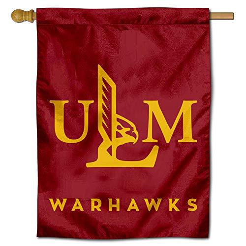 College Flags & Banners Co. Louisiana Monroe Warhawks ULM Logo Double Sided House Flag