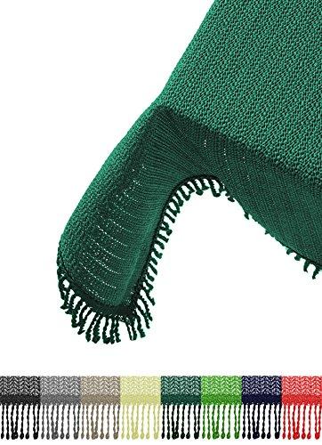 Brandsseller Gartentischdecke Tischdecke - wetterfest und rutschfest für Garten, Balkon und Camping - Eckig 130 x 160 cm - Farbe: Grün
