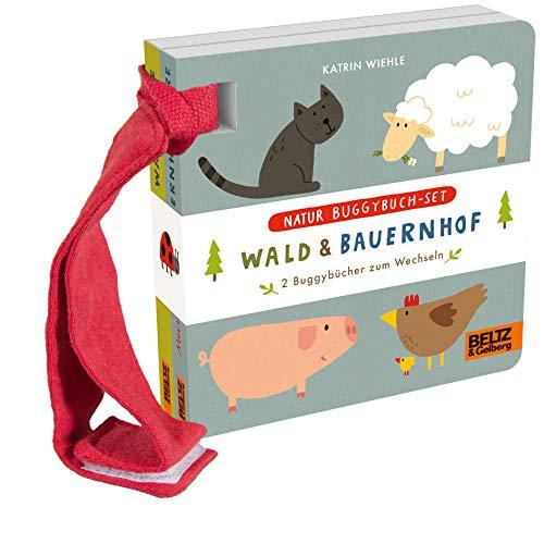 Natur Buggybuch-Set: Wald und Bauernhof: 2 Buggybücher zum Wechseln