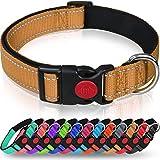 Taglory Hundehalsband, Weich Gepolstertes Neopren Nylon Hunde Halsband für Welpen Kleine Mittlere Große Hunde, Verstellbare und Reflektierend für das Training