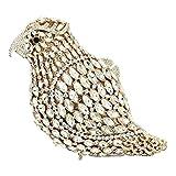 Donna Pochette,Sera Strass Borse,Partito Cerimonia Borsa,Sposa Matrimonio Borsetta,Frizioni Eleganti Brillantini Clutch Uccello Bianco