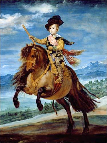 Lienzo 50 x 70 cm: Prince Balthasar Carlos on horseback de Diego Rodriguez de Silva y Velazquez / Bridgeman Images - cuadro terminado, cuadro sobre bastidor, lamina terminada sobre lienzo autentico...