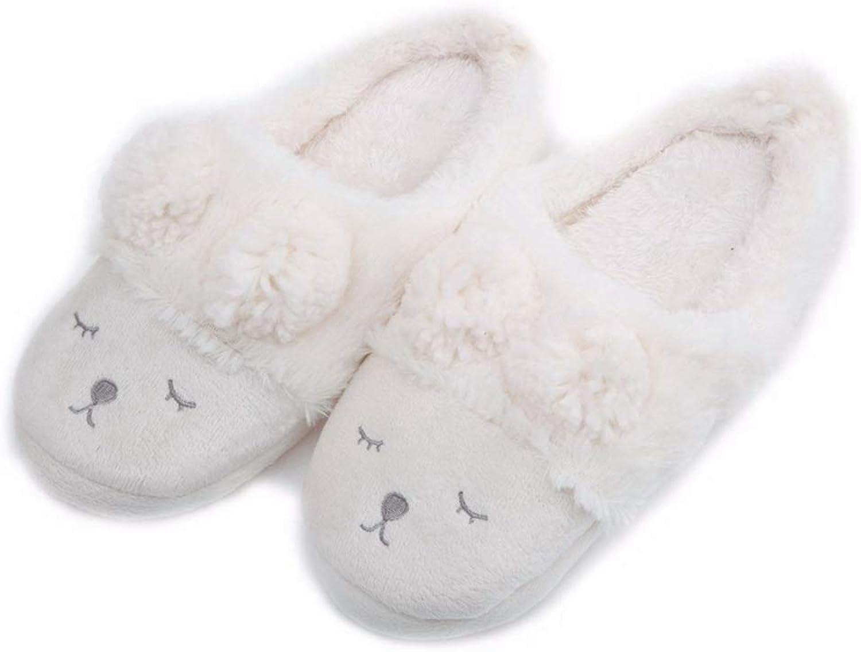 Nafanio Winter Home Slippers Women House shoes Indoor Bedroom House Warm Plush Adult Cute Animal Cartoon Flats